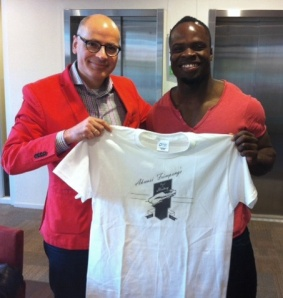 Akwasi Frimpong and Dutch politician Emile Jaensch